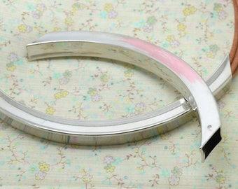 1 x metal tube bead silver 12cm / 1 cm