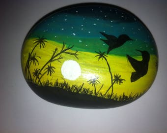 Painted Stone | Use as a PaperWeight