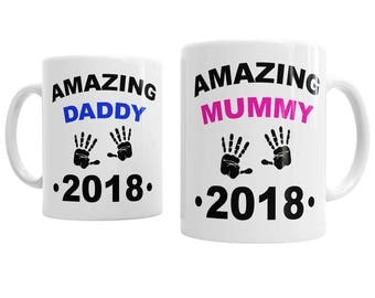 Amazing Mummy Daddy Personalised Year Baby Family Expecting Tea Coffee Cup Mug