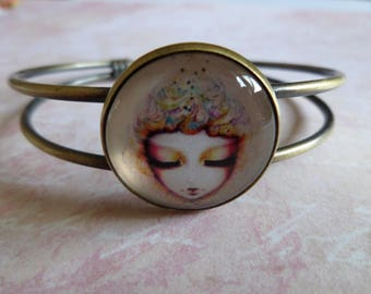 Glass cabochon bracelet * the sleeper * 20 mm