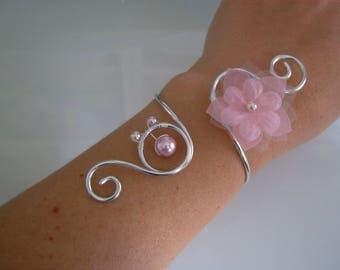 Original pink clear/soft/silver bracelet, aluminum foil p dress of bride/wedding/party/ceremony/ceremony/Cocktail flower/cheap beads