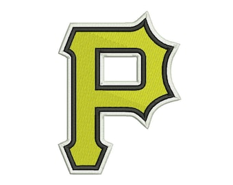 Pittsburgh Pirates Embroidery Design #1 - 5 SIZES
