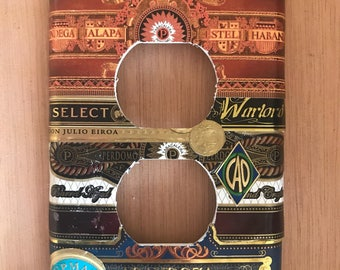 Cigar label standard outlet plate cover