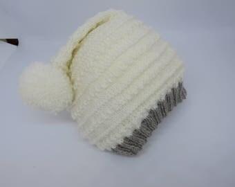 Baby hat -Baby beanie -Striped baby beanie -Pixie hat -Photo prop