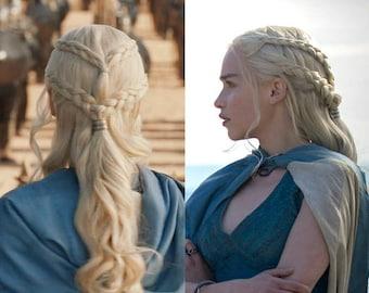 Game of Thrones Daenerys Targaryen Cosplay Wig - Synthetic Hair - Long Wavy Wig - 22-23 inch