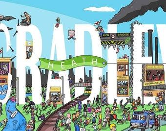 Cradley Heath illustration 50x30cm