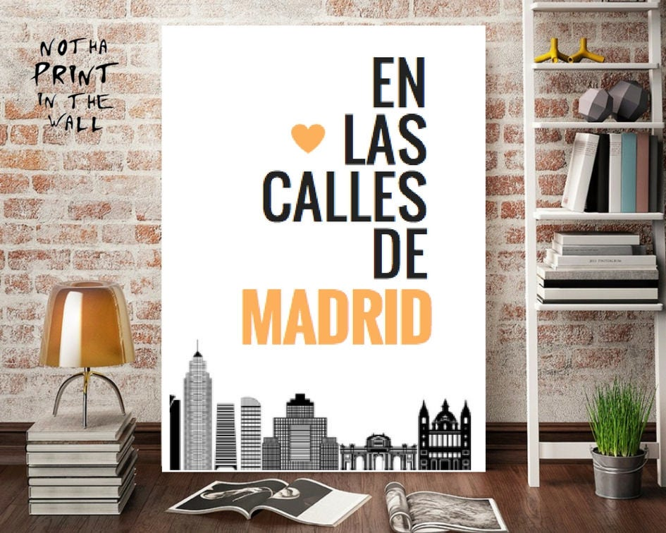 Madrid Printable Poster, Madrid Art Print, Travel Poster, Madrid Art ...