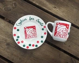 Santas Cookies and Milk set