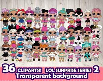 LOL SURPRISE clipart, LOL surprise digital file,Lol surprise themed party,Lol surprise Series 2 doll.Lol surprise scrapbook,Lol dolls png
