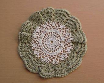 round colourful crochet doily, lace crochet doily, housewarming decor, handmade crochet doily, rpond placemat, lace centerpiece, lace doily