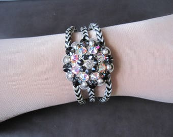 Bling concho braided horsehair bracelet