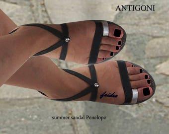 Sandals Womens,Womens  Sandals, Leather Sandals, Greek Sandals,Toe Ring Sandals,Silver Sandals, Sandals,Ladies Sandals, ANTIGONI