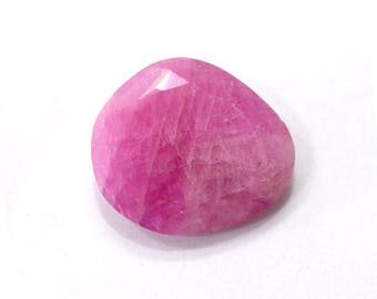 Sapphire Natural Pink Sapphire Faceted Rose Cut Polki 7.20 cts. 13x15 mm Loose Gemstone For Designer Jewelry 4136