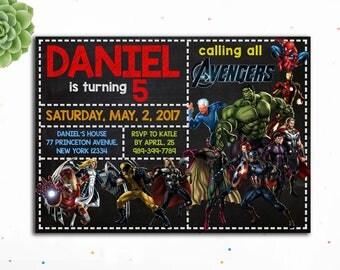 Editable PDF- Avengers Birthday Invitation, Thor Birthday Invitation, Superhero Birthday Invitation for Boys, Avengers Invites, Superheroes