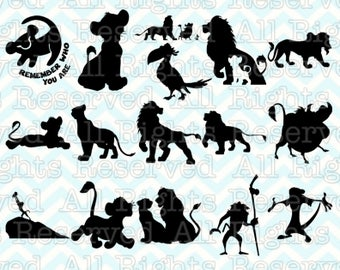 Lion King SVG, Simba svg, Disney Silhouette svg files for silhouette or cricut, dxf, Scar clipart, cut file