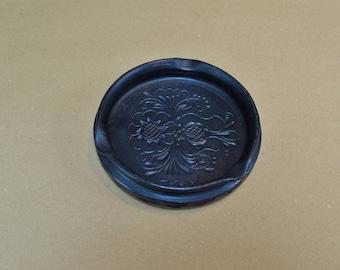 Black Ceramic Ashtray