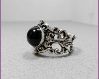 """Black Eye"" men's ring"