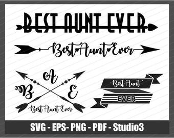 aunt svg, auntie svg, best aunt svg, thanksgiving svg, love my aunt, svg family, super aunt svg, best aunt ever svg, svg files for cricut