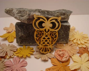 OWL 02021 embellishment wooden creations