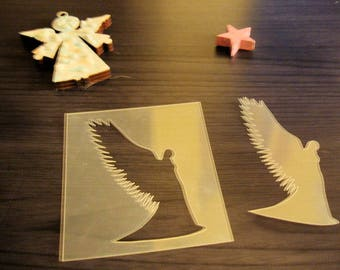 Stencil P0203 Angel for your pages, cards, your walls