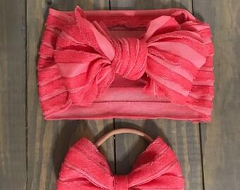 Hot pink ruffle