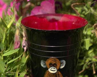Kids small decorative glass monkey