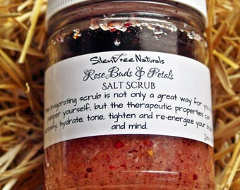 Rose Buds & Petals Salt Scrub - Natural Skincare