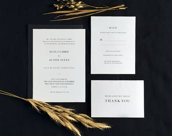 Printable Minimalist Wedding Invitation Suite