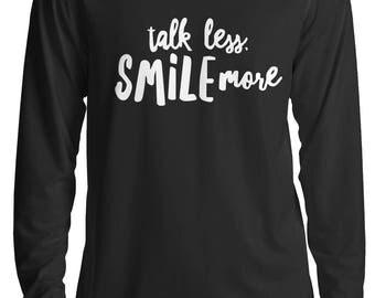 Talk Less Smile More Hamilton Shirt, Hamilton Musical, Alexander Hamilton Broadway Gifts Long Sleeve Shirt S - 2XL