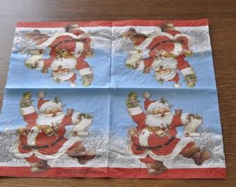 Santa paper napkins
