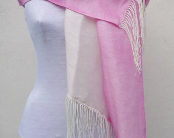 Scarf hot pink and lace
