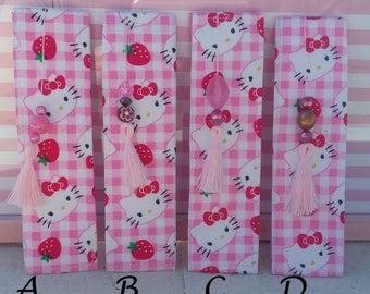 Hello Kitty Fabric Bookmarks