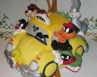Looney Tunes NYC Cab Cookie Jar