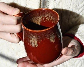 Detailed Ruby Red Mug