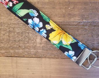 Tropical Floral Key FOB
