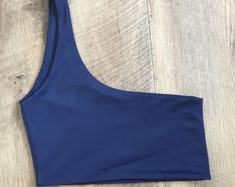 One shoulder bikini top