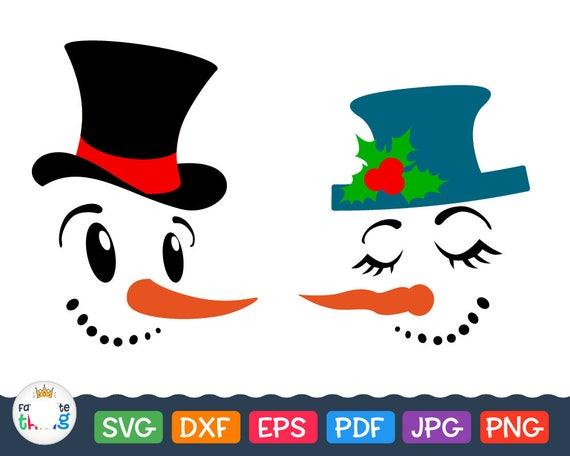 Snowman Face Svg Snow woman Clip art Christmas svg files