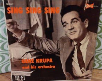 Jazz Lp Record-GENE KRUPA-Sing Sing SIng-Clef Records #MGC 627- The Rocking Mr. Krupa