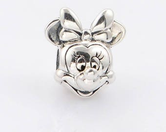 Pandora charms authentic  minnie mouse mickey mouse disney kiss believe in magic silver charm jewellery for  Pandora bracelets necklace gift