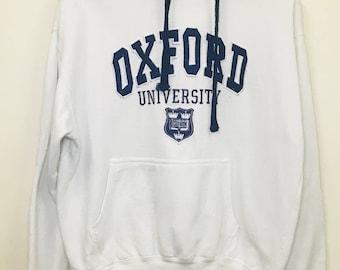 Vintage Oxford University Big Logo Hoodies Sweatshirt