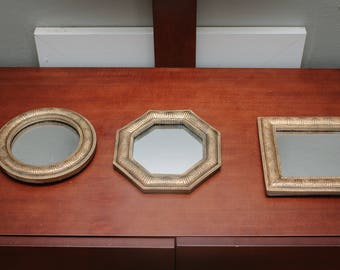 Set of 3 vintage mirrors