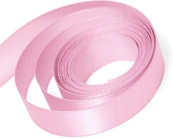 Light Pink Satin Ribbon available in 3 ribbon widths 9mm, 15mm, 23mm