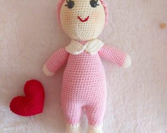 Amigurumi Baby in Pink