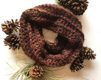 Sequoia ribbed cowl scarf