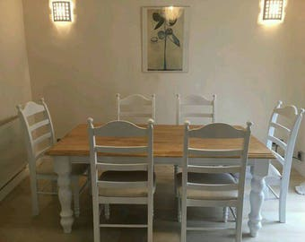 Magnificent 6ft x 3ft Shabby Chic Table Set