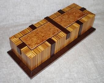 Handmade exotic wood watch box