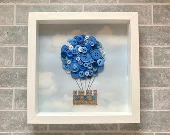 Button balloon in a frame