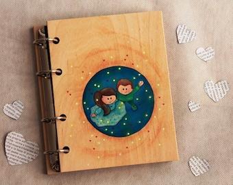 "Album ""in love"" hand decorated wood"