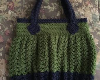 Crochet Two-Toned Handbag
