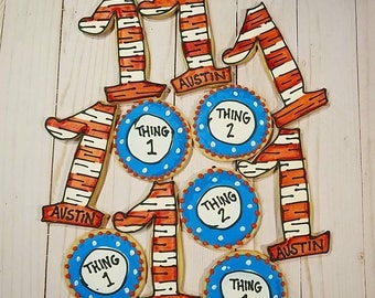 Thing 1 and Thing 2 Cookies